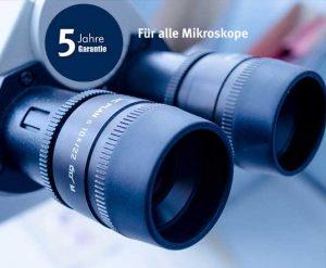 Garantie 5 Jahre für Mikroskope