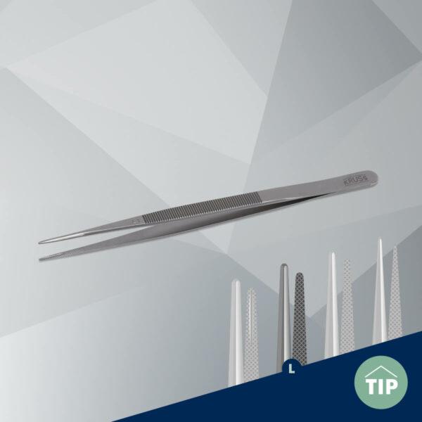 Stone tweezers KO10L large-silver