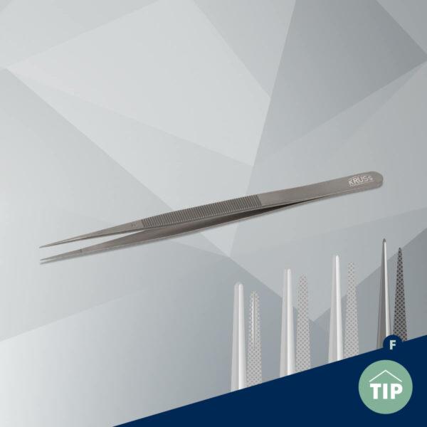 Stone tweezers KO30F fine-titan